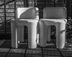 Oscar & Chloe (agianelo) Tags: plastic deck chair child monochrome bw bn blackandwhite