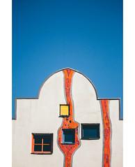 Hundertwasserhaus (freyavev) Tags: hundertwasser hundertwasserhaus architecture germany deutschland plochingen badenwürttemberg minimalism vertical lines colorful contrast bluesky canon canon700d vsco outdoor urban urbandetails