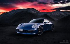 Sky on fire! (Edgar Myller) Tags: porsche 911 carrera blue hour carbon fantastic light ambient sunset red sky fire car automotive