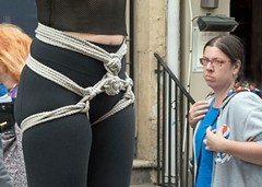 About Rope (john atte kiln) Tags: women face edinburgh festival portrait expressions advertising selling actor actresses theatre stage shows promoting scotland britain uk unitedkingdom people 2018 enigmatic spectacles