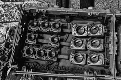 65K05711-Edit (rtenny) Tags: antique box desktop dirty equipment gray grinder industry iron machine machinery metal metallic miesenheim old part power retro rust rusty steel storage technology