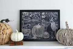Fall Farmhouse Chalkboard Art Printable (drucillamalbrough) Tags: kelly elko fall farmhouse chalkboard art printable