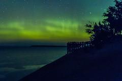 Aurora Over Lake MIchigan_30 (pixquik) Tags: auroraborealis aurora northernlights lakemichigan night nightphotography nightsky nightshots nightlights sleepingbearsanddunes sanddunes overlook