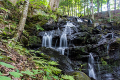 Pyramid Falls (Davien Orion) Tags: explore beautiful green water waterfalls new upstatenewyork adirondacks photoshopelements sonya77 sony nature trees flickrbest ngc ngo pyramidlake pyramidlifecenter
