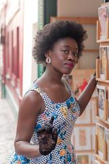 Aurore (sdupimages) Tags: woman 50s montmartre vintage paris girl model modele shooting lady portrait femme feminine 1950s afro beauty retro