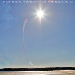 0902 Enid smoke and sun (photozone72) Tags: jersey airshows aircraft airshow aviation canon canon80d 80d 24105mmf4l canon24105f4l raf rafat redarrows reds redwhiteblue