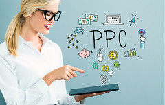 Understanding the Benefits of PPC Management (loylewis07) Tags: ppc pay per click internet advertising business concept website online marketing content traffic search engine technology keywords word woman girl lady tablet computer pc tech pointing hand businesswoman professional person caucasian gray grey networking net lines