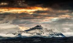 Landmannalaugar Mountains Iceland (petebristo) Tags: iceland landmannalaugar hylands mountains snow sunset low cloud