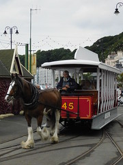 Douglas Bay Horse Tramway: Kewin and Car 45, Derby Castle (24/07/2018) (David Hennessey) Tags: douglas bay horse tramway kewin car 45 derby castle