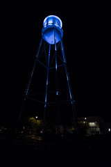 FUJ11812 (cactusflier) Tags: gilbert gilbertaz night structure watertower