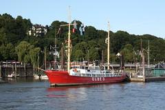 """Hamburg: Feuerschiff """"ELBE 3"""" im Museumshafen Oevelgönne (Helgoland01) Tags: hamburg elbe river fluss deutschland germany schiff ship feuerschiff lightship hafen port harbor"""