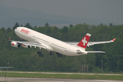 HB-JMG, Zurich, May 16th 2004 (Southsea_Matt) Tags: hbjmg swissinternational airbus a340313 zurich kloten lszh zrh switzerland canon 10d may 2004 spring airplane aeroplane jetplane jet jetliner airliner aviation plane transport luzern