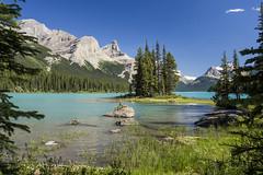 Maligne Lake, Spirit Island, afternoon (birgitmischewski) Tags: malignelake spiritisland alberta canada jasper beautifullandscape