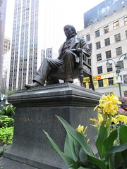 Horace Greeley Statue in Greeley Square Park NYC 9999 (Brechtbug) Tags: horace greeley seated statue 02031811 11291872 american editor leading newspaper founder republican party reformer politician his new york tribune was most influential from 1840 1870 besides having creepy neck beard used it promote whig parties square park manhattan near macys herald midtown nyc 2018 city 09032018