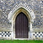 The west doorway (late 14th C.), the Church of St George, Stowlangtoft, Suffolk, England thumbnail