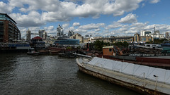 Boats and skyline shapes (PChamaeleoMH) Tags: bermondsey centrallondon london superyacht thames towerbridge yacht