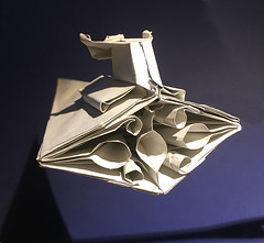 Star destroyer origami with full engines, some details fixed rear view (Matayado-titi) Tags: sugamata spaceship starship starwars space shusugamata stardestroyer destroyer imperial origami matayado