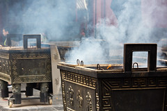 Censer at the Yonghe or Lama Temple, Beijing, China (Miche & Jon Rousell) Tags: china beijing yonghetemple lamatemple temple monastery lama yonghe buddhist buddhism censer incense burning