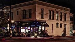 THE NIGHTHAWK PUB -- 38TH & NICOLLET (panache2620) Tags: hopper nighthawk cityscape night minneapolis minnesota urban city pub cafe grill eos canon lighting citylights