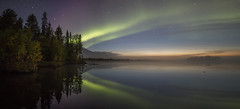 Foggy night (Jukka V. Brusila) Tags: europe finland sodankylä lapland aurora auroras northern light reflection reflections lake water surface