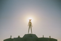 Burning Man 2018 - The Man (andy6white) Tags: burningman burningman2018 burner desert dust festival burningmanfestival burningmanfestival2018 irobot burningmanirobot sand sandstorm wind glow light hazy dusty creative art playa playadust city temporary temporarycity moop gathering