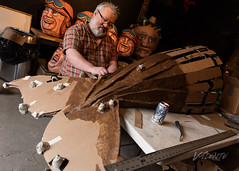 2018 Buskers in the Burg, Workshop (Dennis Valente) Tags: workinprogress buskersintheburg usa washington art barnacles whale ellensburg giantpuppet papermache puppet 2018 5dsr tail pnw puppetry workshop