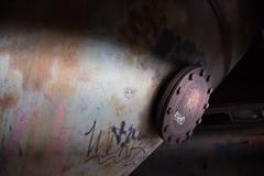 Sealed shut (cluffie598) Tags: duisburg furnace steel ironworks landschaftspark ruin rust industrial graffiti portal ruhr ruhrgebiet