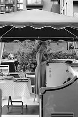 Boating elegance (michaelwilliams58) Tags: 35mmf14 xt20 fujifilm fuji phone blackandwhite regentscanal stylish style elegant elegance boating boat acros
