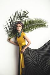 Ksenia (aminefassi) Tags: fashion mode portrait palm morocco caftan arabicdress dress yellow people beauty sony a7rii studio 55mmf18 aminefassi login kaftan casablanca sihamsarachraibi chraibi hautecouture style oriental arabic