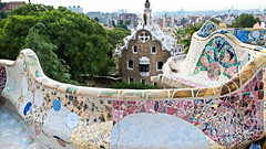 Mosaic Art by Antoni Gaudi (Journey CPL) Tags: mosaic art artwork barcelona spain guell park color colorful curve antoni gaudi