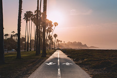 East Beach Part 2_v2 (hitmanfre1) Tags: california socal southerncalifornia beach summer cali sun sunset sunrise eastbeach palm palmtree tree path road sand fog haze nikon d7200 santa barbara santabarbara boardwalk red blue