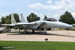 USA Air Force, McDonnell Douglas F-15A Eagle, 76-0024 on display at Peterson Air and Space Museum, Peterson AFB, Colorado Springs, Colorado. (Angel Moreno Photography) Tags: usaairforce mcdonnelldouglasf15aeagle 760024ondisplayatpetersonairandspacemuseum petersonafb coloradosprings colorado figtherjet f15 museum aircraft airplaneplane planespotting