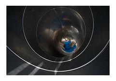 Spiraled (VanveenJF) Tags: slide nederland sony tube glijbaan vinkel heliar silver down kid toy voigtlander