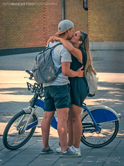 Oslo, Norway 0118 - Beautiful Young Couple In Love by the Bicycle (IVAN MAESSTRO) Tags: love couple young bycicle oslo norway girl hdr ivanmaesstro
