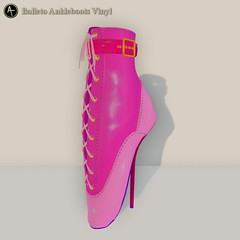 AT Balleto Ankleboots Vinyl color parts (Anima Temptation) Tags: at animatemptation sl secondlife bdsm bondage bound restraints kink boot heel ballet