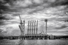 Haven Industry (K_D_B 2.7 Million views. Thanks) Tags: oilterminal sky mono industrial dereks tower landscape refinery wharf water sea cloud milfordhavenwaterway milford pembrokeshire wales canon 7dmkii kdb