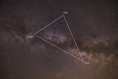 The Summer Triangle (petiam91) Tags: starrynight starrysky stargazing sky astronomy astrophotography nightscape landscape universe universetoday galaxy milkyway milkywaychasers nightphotography longexposure 6d night