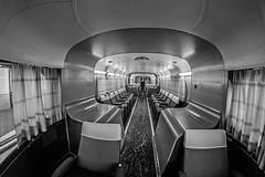 ... El Futuro, la última frontera  ... (Lanpernas .) Tags: futurismo talgo tren indoor sigloxx peleng ojodepez fisheye vagón trainspotting ferrocarril nave acero museodelferrocarril madrid