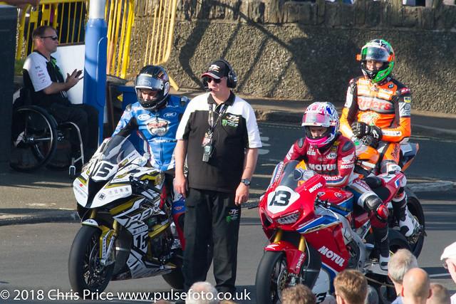 Isle of Man TT 2018: 31st May Qualifying at Main Grandstand