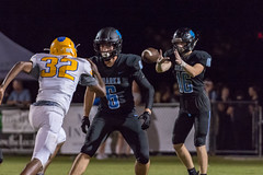 """PVHS v. Palatka-243 (mark.calvin33) Tags: football field sport ball """"high school"""" """"ponte vedra high pvhs block tackle rush run pass catch receiver blocker """"running quarterback fumble completion reception hike pitch snap """"friday night lights"""" fans stands kick """"end zone"""" """"nikon 2018 win athletics athletes """"night photography"""" """"sharks football"""" back d7100"""