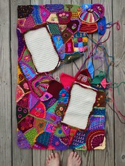 An overview of my progress on the crochet crazy quilt panel (crochetbug13) Tags: crochet crocheted crocheting crochetblanket crochetafghan crazyquilt embroidery