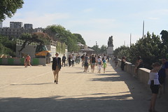 Walking on the banks of the Seine (lazy south's travels) Tags: paris france french river seian boulevard walking candid man woman summer