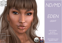 Eden skin display pic-light (Alea Lamont) Tags: ndmd ethnic skins black female woman african afro american women catwa bento vista head