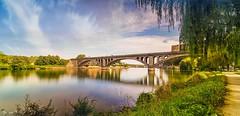 Bridge - 5853 (ΨᗩSᗰIᘉᗴ HᗴᘉS +21 000 000 thx) Tags: longexposure bridge pont huy water meuse laowa laowa12mm hensyasmine namur belgium europa aaa namuroise look photo friends be wow yasminehens interest intersting eu fr greatphotographers lanamuroise landscape