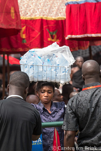 At the Queen Mother's funeral - waterseller