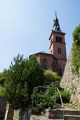 De kerk staat hoog boven de rivier. (limburgs_heksje) Tags: deutschland duitsland germany zwartewoud schwarzwald blackforest laufenburg rijn rhein rhine rivier grens