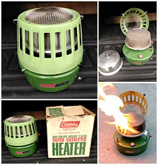 Vintage Coleman heater (Dave* Seven One) Tags: coleman classiccoleman vintagecoleman campinggear campingequipment green camping heater vintage classic 1971 inexplore explore