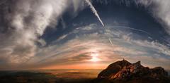 Pico Sacro (Feans) Tags: sony a7r a7rii ii fe 24105 g oss pico sacro boqueixon vedra lestedo rio ulla galiza galicia raiña lupa apostol santiago camiño camino mencer sunrise panorama