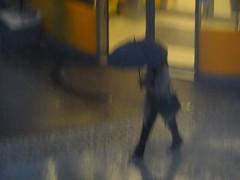 Rainy morning (evisdotter) Tags: rainy morning icm intentionalcameramovement regn woman umbrella sooc