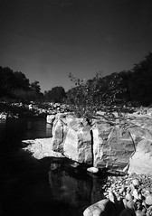Labeaume 2 (salparadise666) Tags: kw patent etui 9x12 tessar 135mm orange filter fomapan 10064 caffenol cl 40min nils volkmer vintage folding large format analogue film camera labeaume river cevennes france ardeche region monochrome bw black white long time exposure vertical